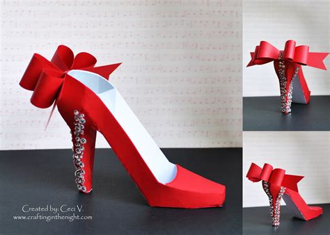 How To Make A Paper High Heel Shoe - crafting in the 3d high heel shoe svgcuts