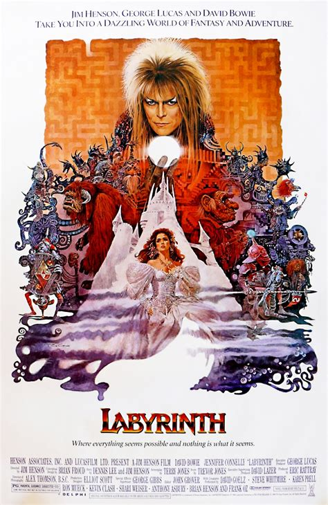 the movie art of the geeky nerfherder movie poster art labyrinth 1986