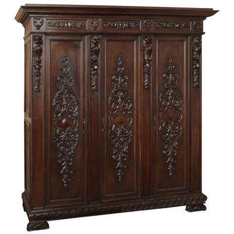 italian armoire vintage italian renaissance walnut armoire at 1stdibs