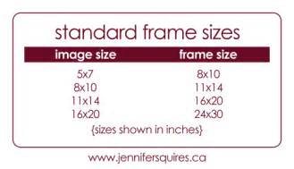 standard artwork frame sizes squires productions