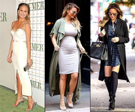 best hairstyles during pregnancy chrissy teigen s pregnancy style chrissy teigen s best