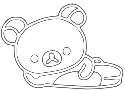rilakkuma free coloring pages