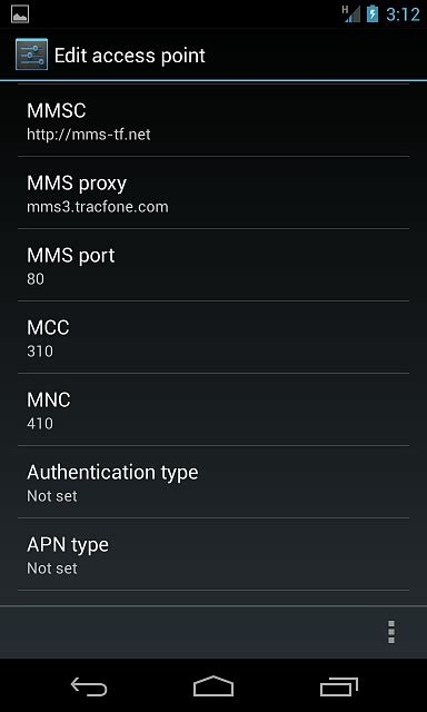 net10 apn settings for android nexus 4 net10 can send but can not receive