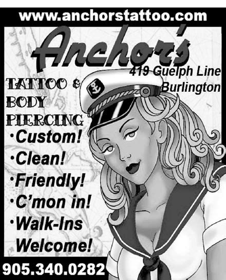 tattoo prices guelph anchor s tattoo studio 419 guelph line burlington on