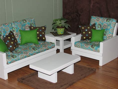 18 Inch Doll Living Room Set by American Sized 18 Inch Doll Furniture 4