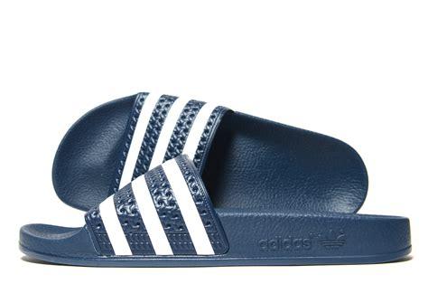 Sendal Sandal Adidas Adilette Biru Dongker Navy Original Murah lyst adidas originals adilette slides in blue for