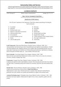 Sle Resume by Sales Resume In Automobile Industry Sales Sales Lewesmr