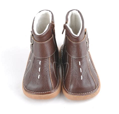 soft shoes baby soft leather shoes brown children boots with buckles