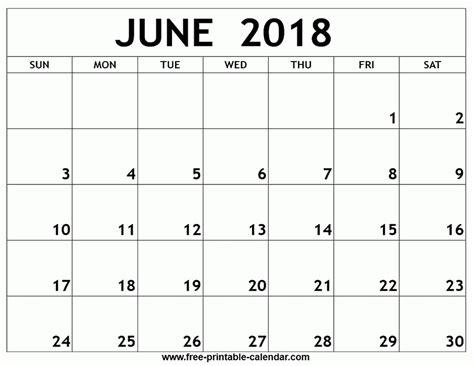 printable calendar 2018 free june 2018 calendar printable free journalingsage com