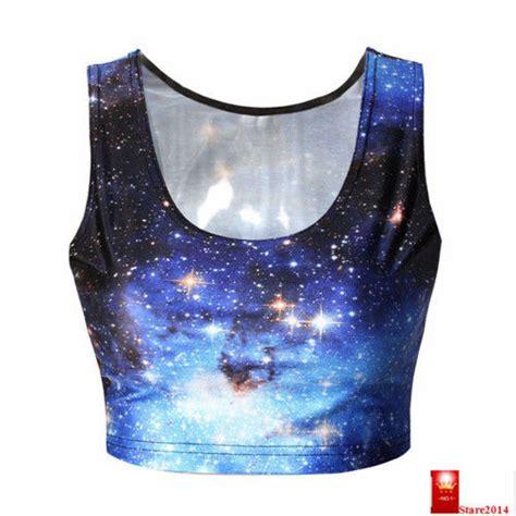T Shirt Still Doing It Nike Blue 2014 new crop top galaxy blue nana suit top print summer