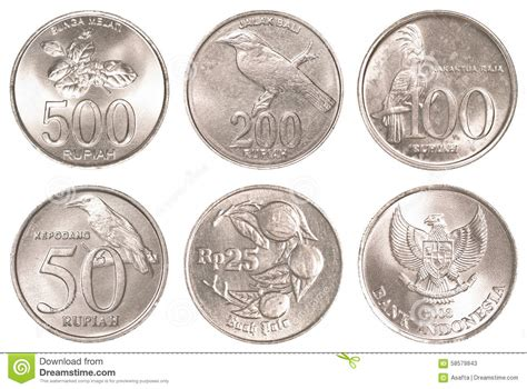 Coin Bali rupiah coins collection set stock image image 58579843