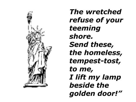 I Lift L Beside The Golden Door by Ppt The Statue Of Liberty Unveiled In 1886 Powerpoint