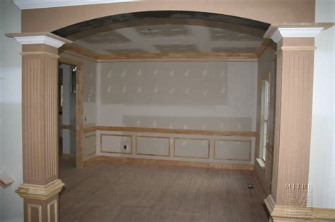 Dining Room Entrance Trim Trimwork Foyer Into Dining Room View