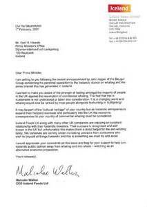 iceland letter to the prime minister