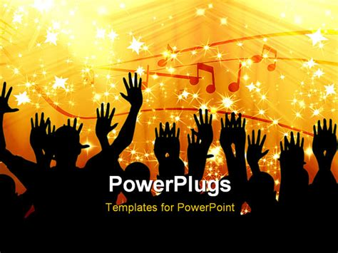 powerpoint template a group of people dancing with music