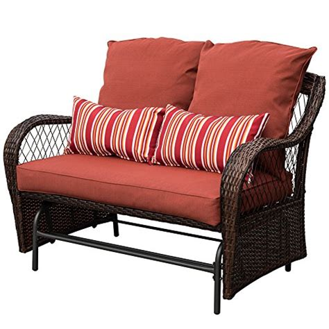 2 person loveseat sundale outdoor 2 person wicker loveseat glider bench