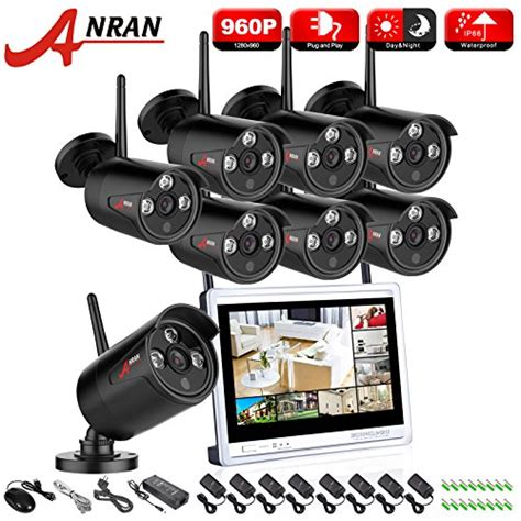 Cctv 8 Channep 960p Wireless anran 8 channel 960p wireless security system 12 inch nvr lcd monitor 8 bullet surveillance