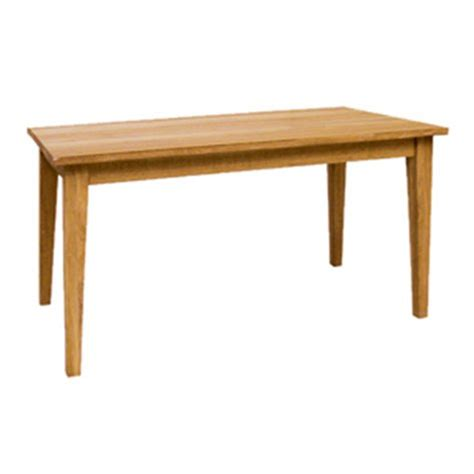 American Oak Dining Table American Oak 4 6 Dining Table The Porcupine Company