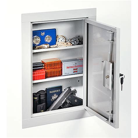 In Wall Gun Cabinet by Stack On Iwc 22 Mid Sized In Wall Gun Storage Vault