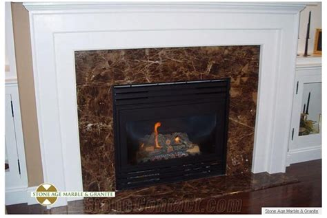 Brown Marble Fireplace by Marron Imperial Fireplace Frame Emperador Brown
