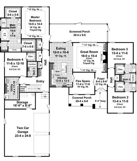 huntington floor plan the huntington park 7403 4 bedrooms and 3 5 baths the