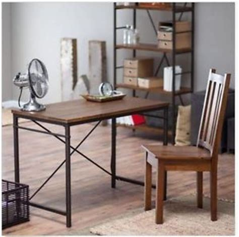 rustic writing desk wood industrial home office furniture