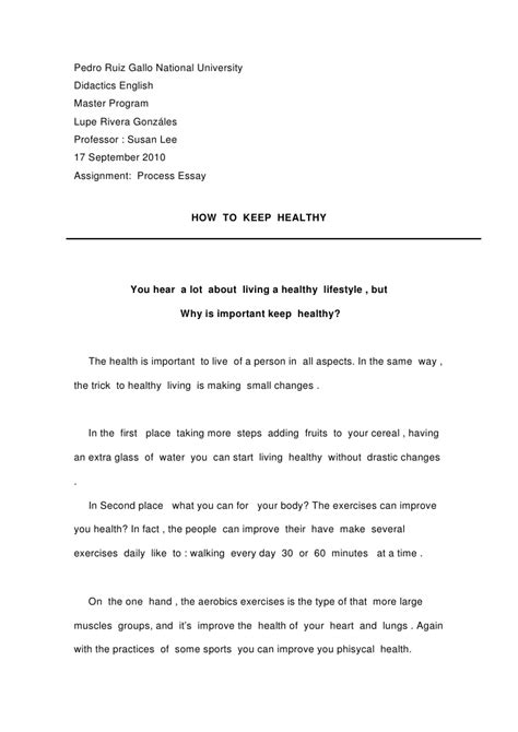 how to keep essay how to keep healthy