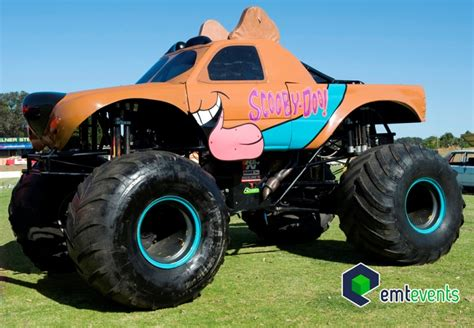 scooby doo monster truck video the biggest mystery solving dog monster events
