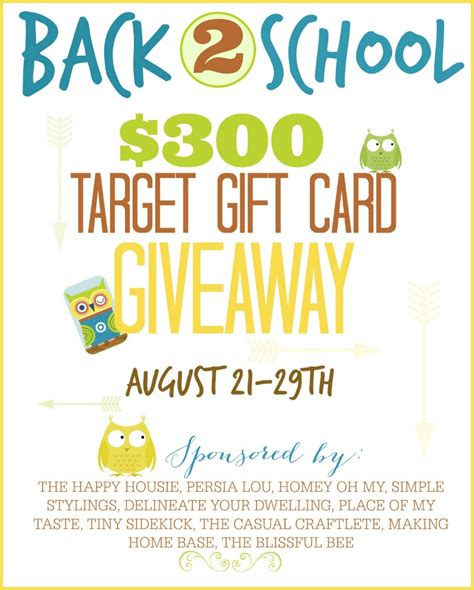 Target 300 Gift Card - back 2 school 300 target gift card giveaway purely katie