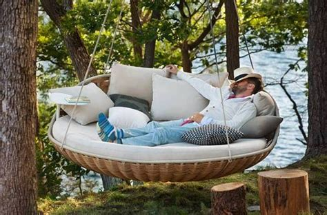 round swing bed outdoor porch bed swing