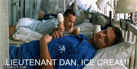 Lieutenant Dan Ice Cream Meme - lieutenant dan ice cream blah blah blah
