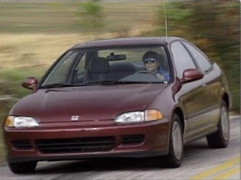 93 honda civic coupe motorweek retro review 93 honda civic coupe