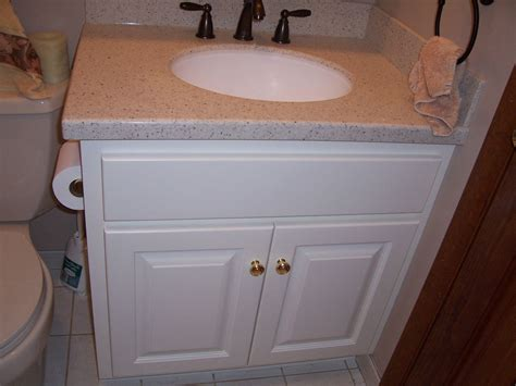 crafted custom painted bathroom vanity and top by