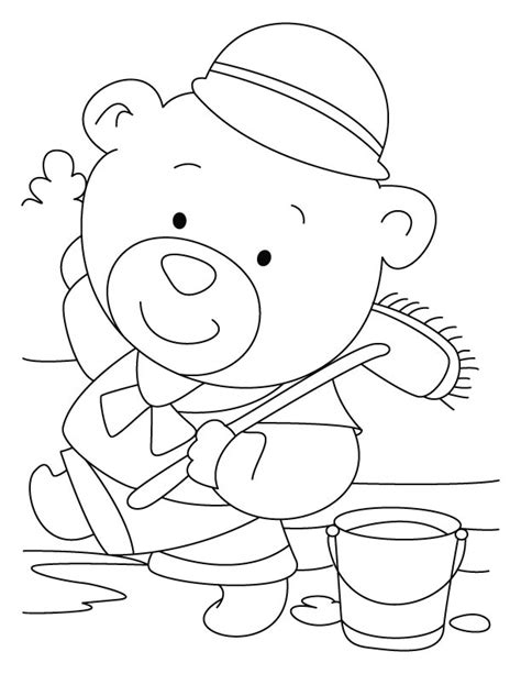 free coloring pages of sleeping bear