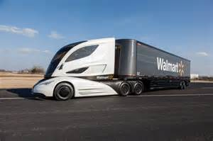 Truck Many Wheels Walmart S Wave Is The Aerodynamic Big Rig Of The Future