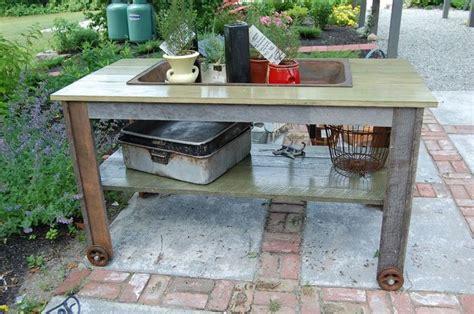 garden work bench with sink antique vintage old farm sink table garden work bench
