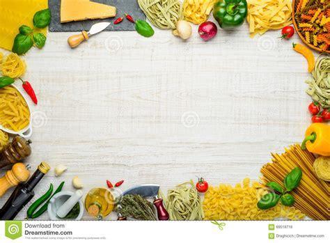 Italian Cuisine Copy Space Frame Stock Photo   Image: 69518718