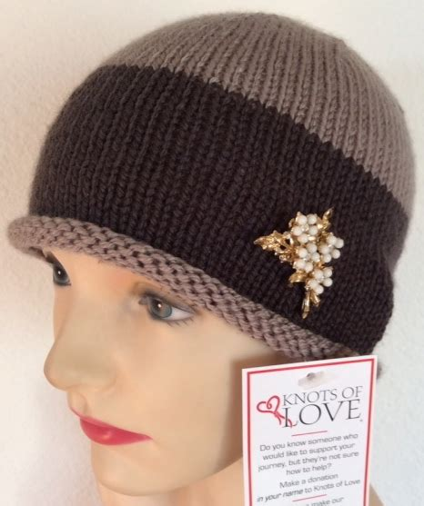 knots of love cancer caps chemo hat knitting pattern ravelry flick knitted hat wig