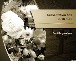 Free Funeral Powerpoint Template Memorial Service Slideshow Powerpoint Template