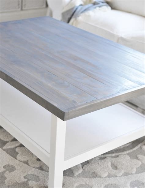 Ikea Dining Table Hack by Weathered Gray Coffee Table Centsational