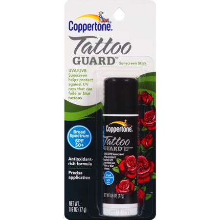 sunblock for tattoos coppertone guard sunscreen stick spf 50 0 6 oz