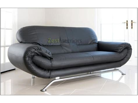 2 seater black sofa florence black 2 seater faux leather modern sofa