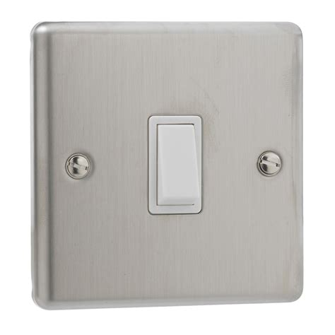 stainless steel light switch british general stainless steel single 1 gang light switch