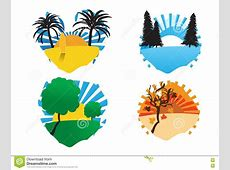 4 season cliparts stock illustration. Image of ... Oak Leaf Pictures Clip Art
