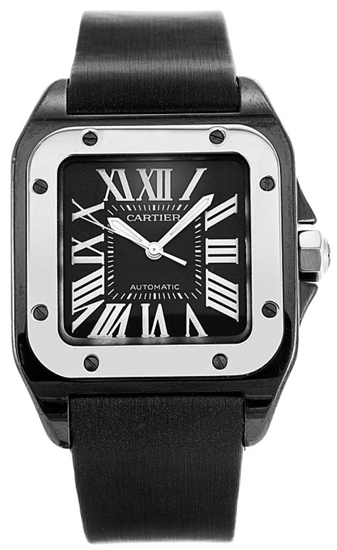 cartier santos  titanium steel medium size