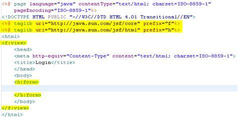 layout jsp tag wtp tutorials javaserver faces tools milestone5