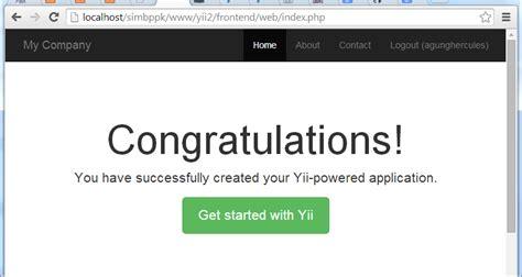 yii2 signup tutorial yii2 pengaturan dasar yii framework versi 2 gurututorial