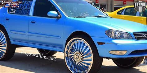 infiniti g35 chrome rims infiniti g35 dub s768 swyrl wheels chrome