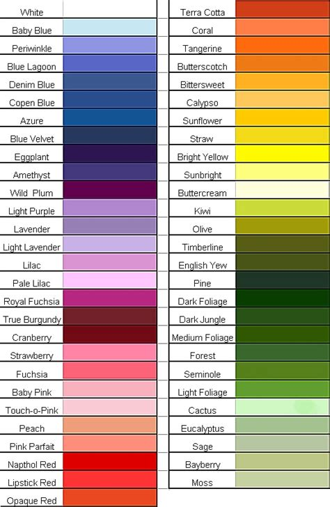 list of colors style4urban amazing covers