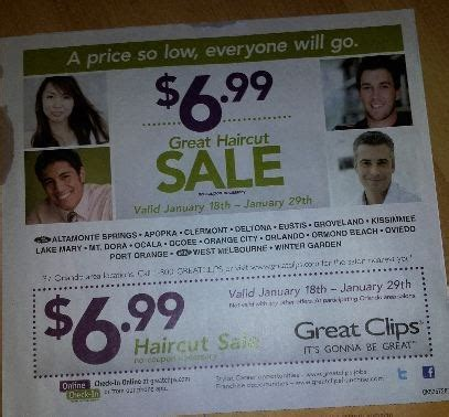 great clips haircut sale 699 samiconecom orlando daily deals great clips 6 99 hair cuts in